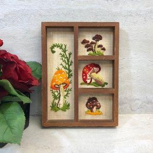 Embroidered Mushroom Wall Decor
